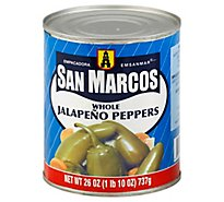 San Marcos Peppers Jalapeno Whole Can - 26 Oz