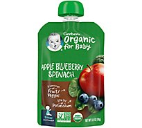 Gerber 2nd Foods Baby Food Sitter Organic Apple Blueberry Spinach - 3.5 Oz