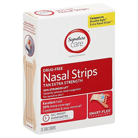 Signature Care Extra Strength Nasal Strips - 26 Count