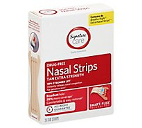 Signature Care Nasal Strips Drug Free For Sensitive Skin Tan Extra Strength - 26 Count