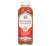 GTs Enlightened Synergy Organic Kombucha Strawberry Seremity - 16.2 Fl. Oz.