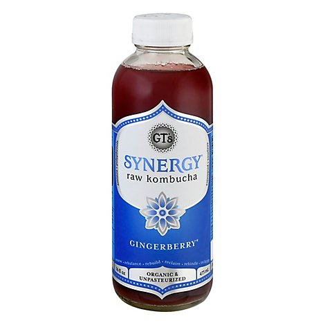 GTs Enlightened Synergy Organic Kombucha Gingerberry - 16.2 Fl. Oz.