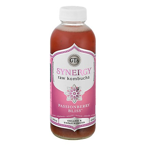 GTs Enlightened Synergy Organic Kombucha Passionberry Bliss - 16.2 Fl. Oz.