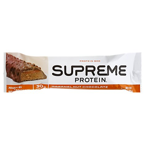 Supreme Protein Protein Bar Caramel Nut Chocolate - 3.38 Oz