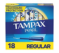 Tampax Pearl Tampons Regular Absorbency Unscented - 18 Count