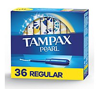 Tampax Pearl Tampons Plastic Regular Absorbency Unscented - 36 Count