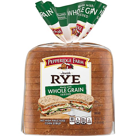 Pepperidge Farm Jewish Whole Grain Rye Seeded Bread - 16 Oz