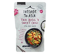 Passage Foods Stir-Fry Sauce Passage to Thailand Thai Basil & Sweet Chili Medium Pouch - 7 Oz