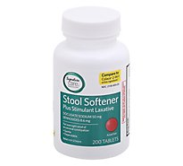 Signature Care Stool Softener Plus Stimulant Laxative Docusate Sodium 50mg Tablet - 200 Count
