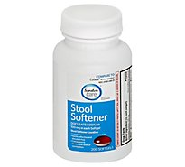 Signature Care Stool Softener Laxative Docusate Sodium 100mg Softgel - 200 Count