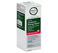 Signature Care Allergy Relief Childrens Cetirizine Hydrochloride 1mg/1mL Bubble Gum - 8 Fl. Oz.