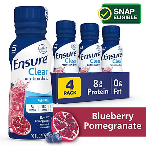 Ensure Clear Nutrition Drink Fat Free Blueberry Pomegranate - 4-10 Fl. Oz.