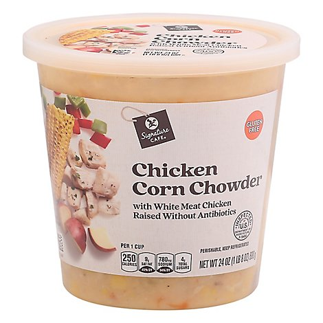 Signature Cafe Chicken Corn Chowder Soup - 24 Oz.