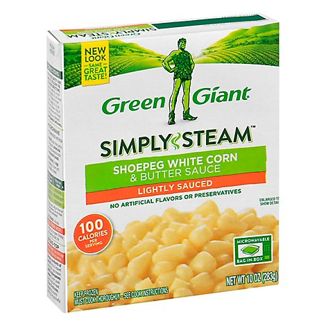 Green Giant Steamers Shoepeg White Corn & Butter Sauce Lightly Sauced - 10 Oz