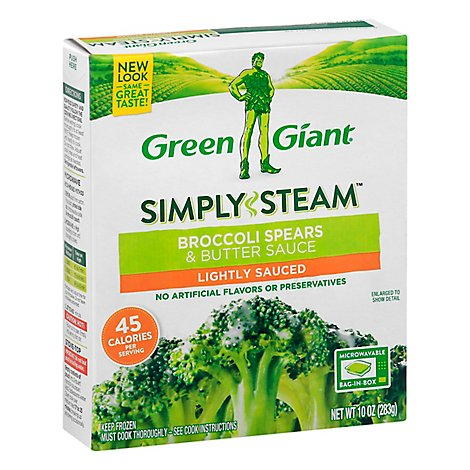 Green Giant Steamers Broccoli Spears & Butter Sauce Lightly Sauced - 10 Oz