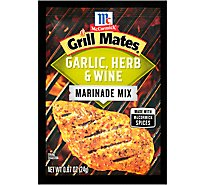 McCormick Grill Mates Marinade Mix Garlic Herb & Wine - 0.87 Oz