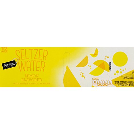 Signature SELECT Water Seltzer Lemon Flavored - 12-12 Fl. Oz.