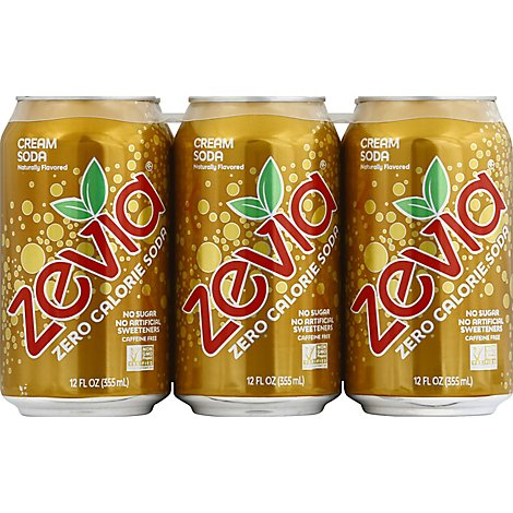 Zevia All Natural Soda Cream - 6-12 Fl. Oz.
