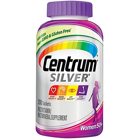 Centrum Silver Multivitamin/Multimineral Tablets Women 50+ - 200 Count