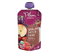 Plum Organics Baby Food Stage 2 Fruit & Grain Plum Berry & Barley - 3.5 Oz