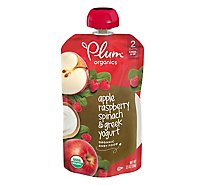 Plum Organics Baby Food Stage 2 Raspberry Spinach & Greek Yogurt - 4 Oz
