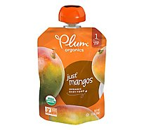 Plum Organics Baby Food Stage 1 Just Mangos - 3.17 Oz