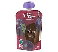 Plum Organics Organic Baby Food 1 (4 Months & Up) Just Prunes - 3.5 Oz