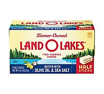 Land O Lakes Butter Sweet Cream with Olive Oil & Sea Salt Half Sticks - 8 Count