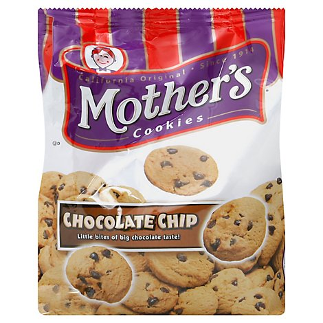 Mothers Cookies Chocolate Chip Bag - 12 Oz