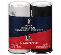MORTON Iodized Salt & Pepper Set - Each