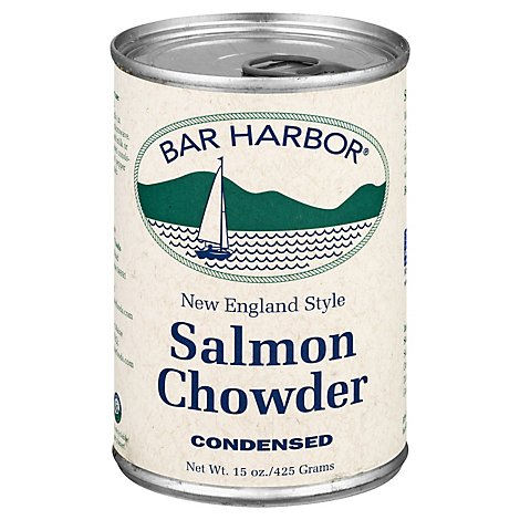 Bar Harbor Chowder Condensed Salmon New England Style - 15 Oz