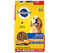 Pedigree Adult Dry Dog Food Complete Nutrition Roasted Chicken Rice & Vegetable - 20.4 Lb