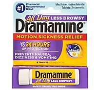 Dramamine Motion Sickness Relief Tablets Less Drowsy Formula - 8 Count