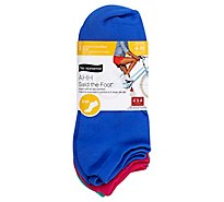Women Microfiber No Show Asst - 3 Pair