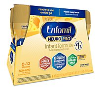 Enfamil NeuroPro Infant Formula Milk Based Liquid with Iron Ready to Use -  6-8 Fl Oz