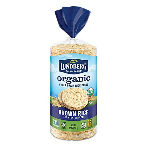 Lundberg Rice Cakes Organic Brown Rice Lightly Salted - 8.5 Oz