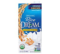 Rice Dream Rice Drink Enriched Original Unsweetened Organic - 32 Fl. Oz.