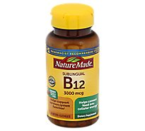 Nature Made Dietary Supplement Micro-Lozenges Vitamin B-12 Sublingual 3000 mcg Cherry - 40 Count