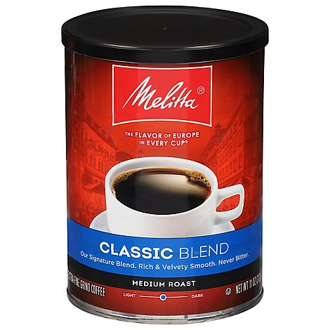 Melitta European Indulgence Coffee Extra Fine Grind Medium Roast 3 Classic Blend - 11 Oz