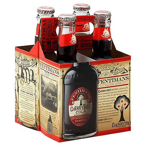 Fentimans Soda Cherrytree Cola Bottles - 4-9.3 Fl. Oz.