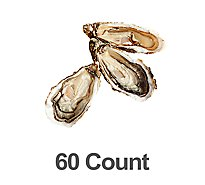 Seafood Counter Oysters BBQ Shell Farmed Fresh 1 Count - 0.50 LB