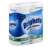 Signature SELECT Paper Towels Brightly Lint-Free Shine Giant Roll 2-Ply Wrap - 2 Roll