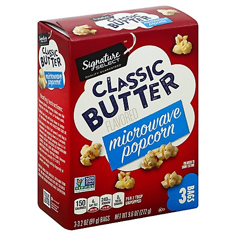 Signature SELECT Microwave Popcorn Classic Butter - 3-3.2 Oz