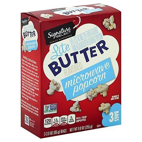 Signature SELECT Microwave Popcorn Butter Lite - 3-3.0 Oz