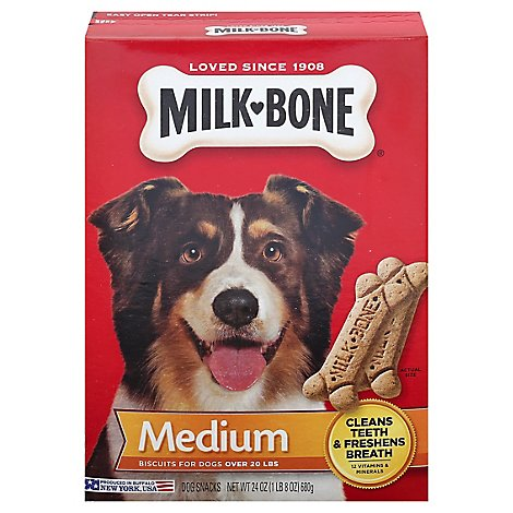 Milk-Bone Dog Snacks Biscuits Medium Box - 24 Oz