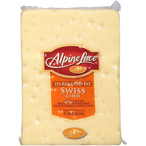 Alpine Lace Cheese Swiss Reduced Fat Loaf - 0.50 LB
