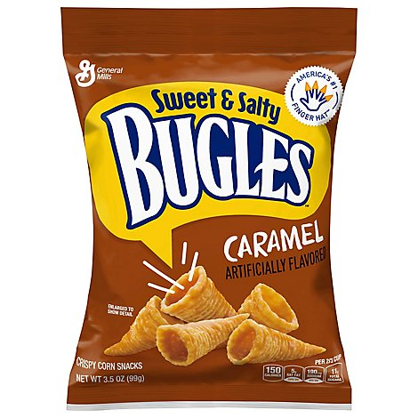 Bugles Snacks Corn Sweet & Salty Caramel - 3.5 Oz