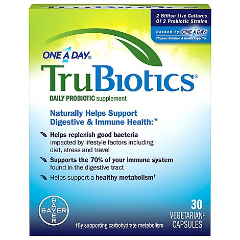 TruBiotics Daily Probiotic Supplement Capsules - 30 Count