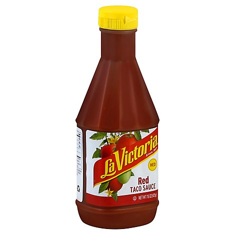 La Victoria Sauce Taco Red Medium Bottle - 15 Oz