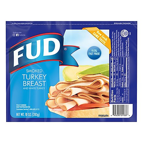 Fud Turkey Breast Smoked - 10 Oz